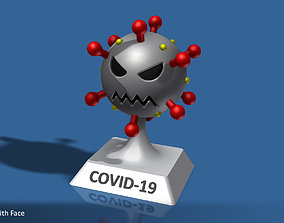 3D printable model Novel Coronavirus COVID-19 Cartoon