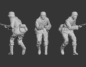 3D printable model pistol German soldier