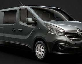 Renault Trafic Combi LWB 2020 3D model comercial