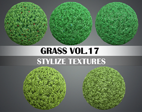 Stylized Grass Vol 17 - Hand Painted Texture Pack 3D model