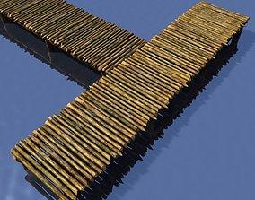 3D model Rustic wooden pier