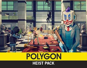 3D asset rigged POLYGON - Heist Pack