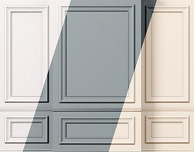 Wall molding 10 Boiserie classic panels 3D