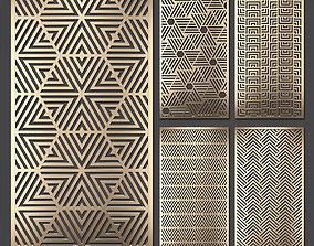 3D model Decorative panel set 67