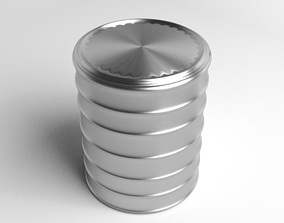 Tin Can - Cylinder 3D model