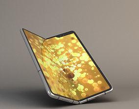 Foldable smartphone 3D asset