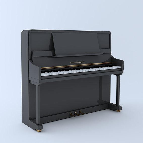 Grand Piano full detailed 3D model Low-poly 3D model
