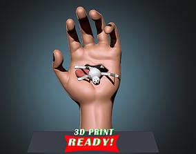 3D print model Deidaras hand with a pedestal