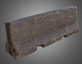 3D asset Concrete Barrier - PBR Game Ready