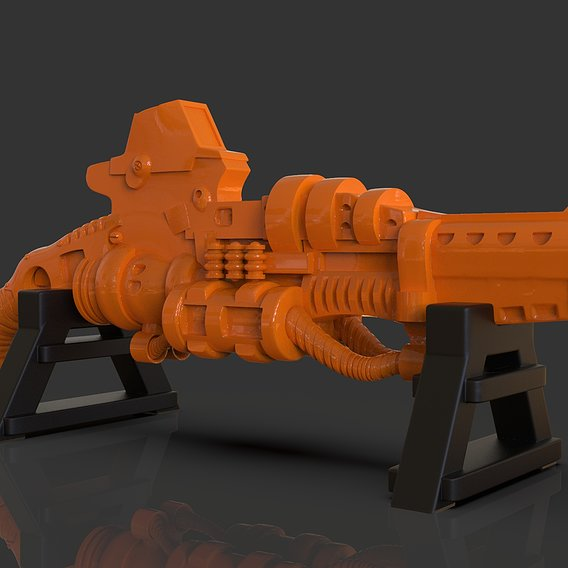 Stylized Scifi Shotgun Sculpture