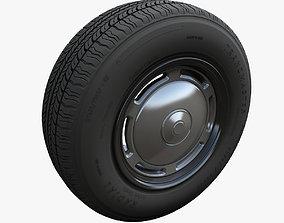 Taxi car wheel 3D model