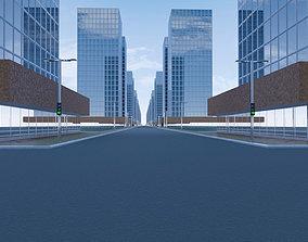 City blocks of skyscrapers 3D