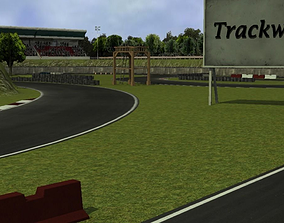 3D model Trackwood drift race track
