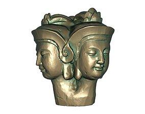 Buddha head 3D printable model artemis