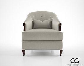3D model Christopher Guy Morzine armchair