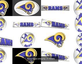 3D Rams logos similarity