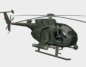 hellfire 3D asset realtime Helicopter