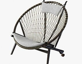 3D model Hans Wegner Circle chair by pp mobler