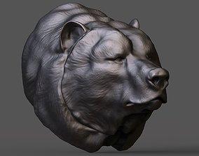 3D printable model obj Bear head