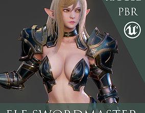 3D model Elf Swordmaster - Game Ready