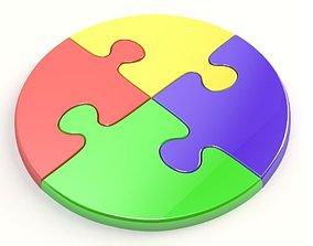 Circle jigsaw puzzle 3D