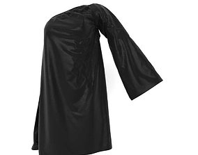 One Sleeved Black Dress 3D model