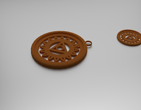 3D print model Vishuddha Throat Chakra Pendant