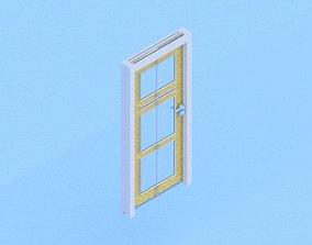 realtime Modern door 3d model