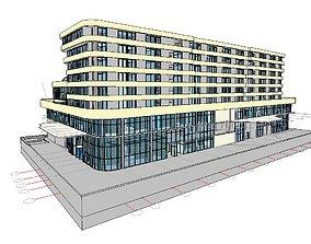 3D model Hotel in Revit