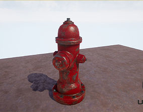 3D asset realtime PBR Fire Hydrant