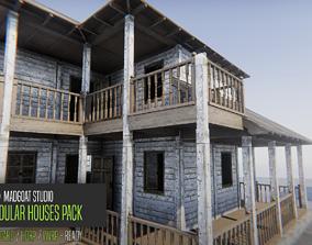 MadGoat Modular Houses 3D asset