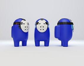 3D Among Us Hockey Mask Character