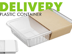 3D model Delivery Plastic Container