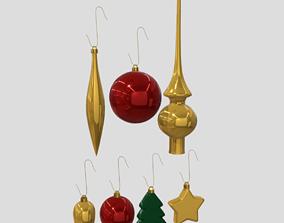 Christmas Bauble Pack 3D model