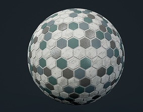 hexagon 3D model Marble Tile Seamless PBR Texture