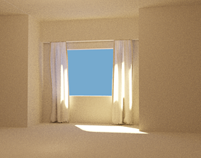 3D model Curtain Blowing