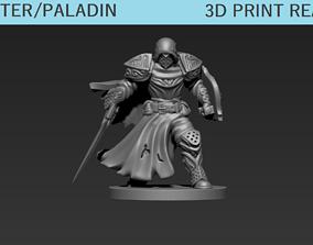 rpg 3D print model Fighter Paladin Mini