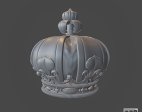 Funeral crown Louis XVIII - 3d model for CNC -