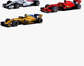 3D Formula 1 2018 cars Pack 1