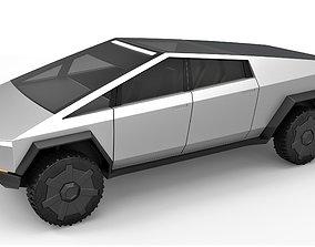 3D Tesla Cyberpunk truck