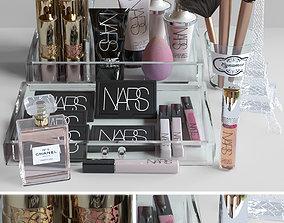 Set of luxury cosmetics 3D