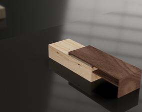 3D model VR / AR ready Wooden Cabinet