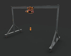 3D model game-ready Portable Gantry Crane