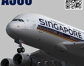 Airbus A380 Singapore Airlines 9V-SKH 3D asset