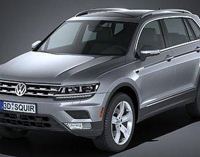 3D model Volkswagen Tiguan Allspace 2018