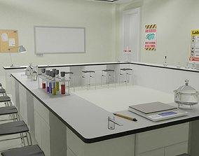 Laboratory and Lab Equipments 3D asset
