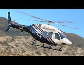 3D Bell 429 Police