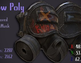 3D asset The Low Poly Armored Gas Mask