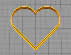 Heart - COOKIE CUTTER 3D printable model