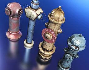 3D asset Fire Hydrants